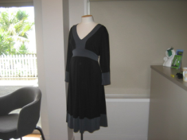 Black and Grey Kimono Dress