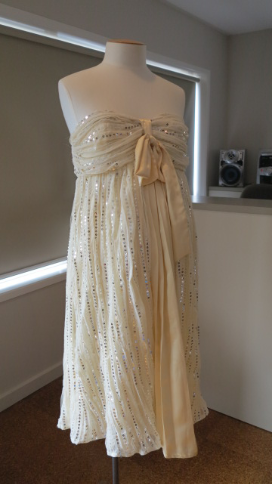 Cream and Gold Celebration Dress