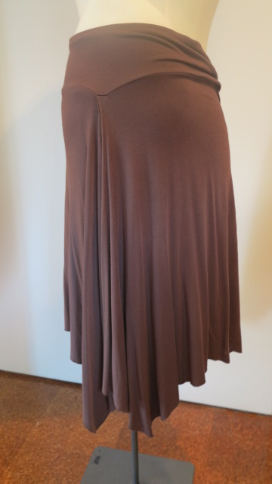 Brown maternity skirt