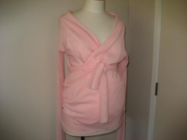 Pink Wrap Long Sleeve Top
