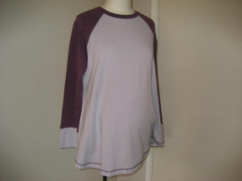 Purple cotton Long Sleeve Top