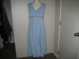 Duck Blue Pleated Dress