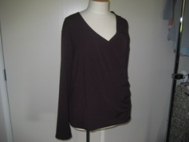 Long sleeve berry top