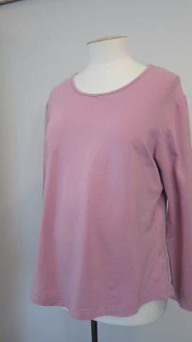 Pink Long Sleeve Maternity Top