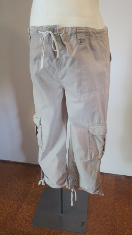 Light brown cargo maternity pants