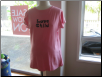 "Pink t-shirt with ""Love Child"""