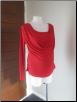 Red long sleeve feeding top