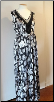 Black/silver maxi maternity dress
