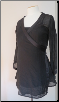 Black wrap maternity top