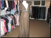 Brown Long Sleeve Full Length Gown