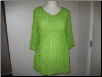 Lime Green 3/4 Sleeve Dress Top
