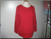 Red long sleeve top
