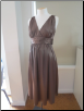 Bronze Deluxe Satin Evening Dress